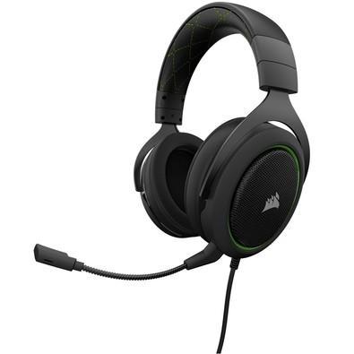 Headset Gamer Corsair HS50 P2, Stereo 2.0 , Drivers 50mm, Preto/Verde - CA-9011171-NA