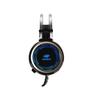 Headset Gamer C3 Tech P2 e USB, Preto RGB Black Kite PH-G310BK
