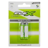 Pilha FLEX GOLD Alcalina AAA Cartela com 2 - 7944