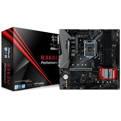 Placa-Mãe ASRock  B360M Performance, Intel LGA 1151, mATX, DDR4