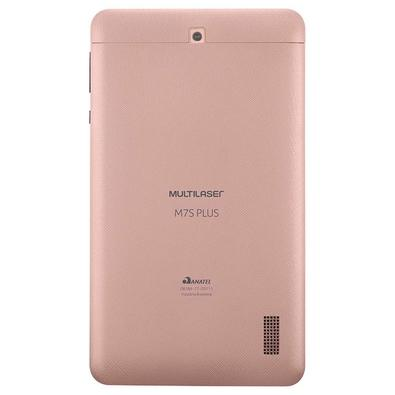 Tablet Multilaser M7S Plus Quad Core 7´ Wi-Fi Bluetooth Android 7.0 Rosa - NB275