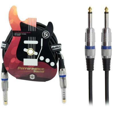 Cabo Performance Sound P10 Mono + P10 Mono 5m Preto 018-8019