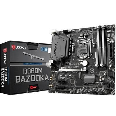 Placa-Mãe MSI B360M Bazooka, Intel LGA 1151, mATX, DDR4