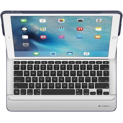 Capa Create Logitech Com Teclado Iluminado Para iPad Pro Azul - 920-007776