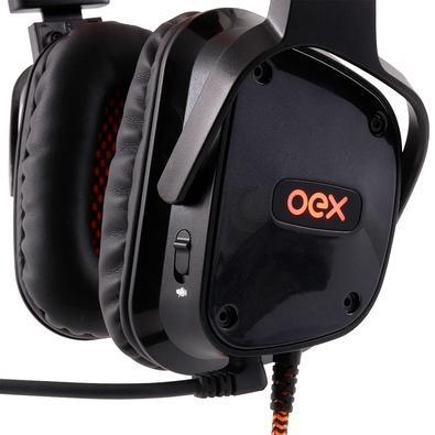 Headset Gamer Oex Game 7.1 Preto Shield - HS409