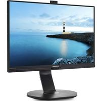 Monitor Philips LED 24´ Widescreen, Full HD, IPS, HDMI/VGA/Display Port, Som Integrado, Webcam Integrada, Altura Ajustável - 241B7QPJKEB