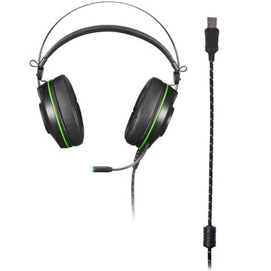Headset Gamer Warrior Raiko 7.1 USB com Led Verde - PH259