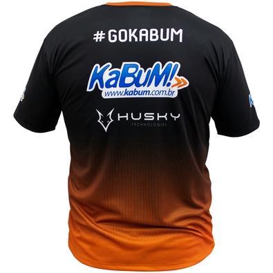 Camiseta Uniforme Oficial KaBuM! e-Sports 2018, Orange Ninja, Dry-Fit, Tamanho P