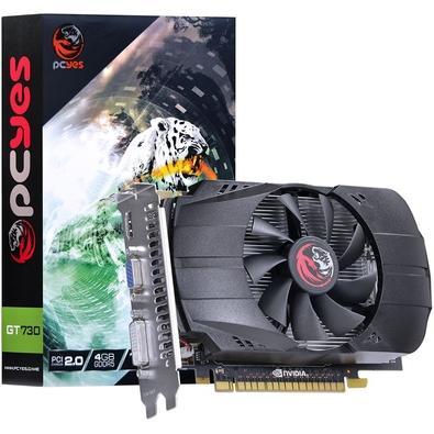Placa de Vídeo VGA PCYes NVIDIA GeForce GT 730 Single Fan 4GB, GDDR5, 128 bits, PCI-E 2.0 - PV73012804D5