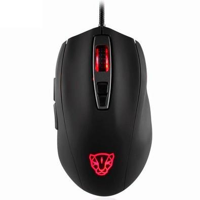 Mouse Gamer Motospeed V60, RGB Backlight, 5000 DPI, Sensor PMW3325, Preto
