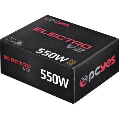 Fonte PCYes Electro V2 550W, 80 Plus Bronze - ELECV2PTO550W