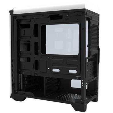 Gabinete Gamer Gamemax Hero sem Fonte, Mid Tower, USB 3.0, 3 Fans, Branco com Lateral em Acrílico - H602W