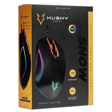 Mouse Gamer Husky Snow, RGB, 6 Botões, 3500DPI - MO-HSN-RA