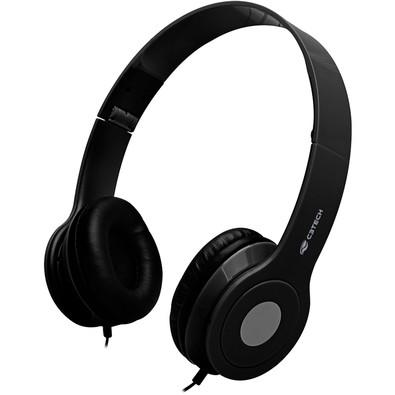 Headset C3 Tech Dobrável, Preto - PH-100BK