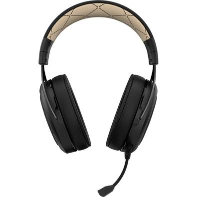 Headset Gamer Corsair HS70 Wireless, 7.1 Surround, Drivers 50mm, Preto/Creme - CA-9011178-NA