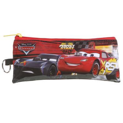 Mochila Escolar Carros Relâmpago McQueen de Rodinhas Dermiwil  com Lancheira e Estojo Tam G Ref 37337