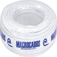Cabo Coaxial Rgc-59 47% Branco 100 Metros