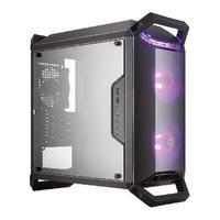 Gabinete Masterbox Q300p 2 Fans Rgb - Controlador E Splitter - Painel Lateral Acrílico Transparente