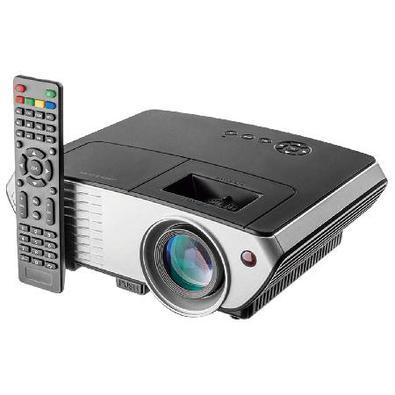 Projetor 2000 Lumens Full Hd 1080P Até 120 Polegadas Cinza Pt001