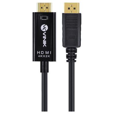 Cabo Displayport 1.3 Para Hdmi 2.0 4K 30Hz Ultra Hd 2 Metros H20dp13-2