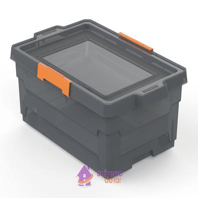 Caixa Organizadora 40L Fumê Basic com Rodas Tramontina