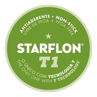 Jogo de Panelas Tramontina Loreto em Alumínio com Revestimento Interno e Externo Antiaderente Starfl Tramontina