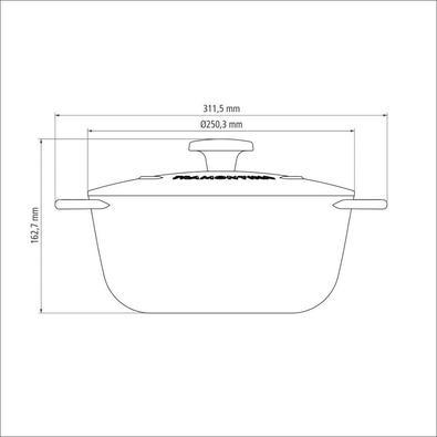 Caçarola Tramontina Trento em Ferro com Revestimento Esmaltado Preto 24 cm 4 L Tramontina