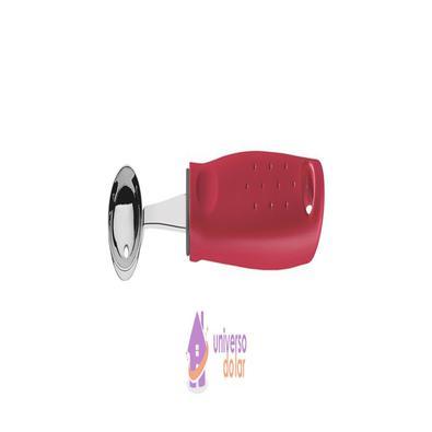Boleador Tramontina Utilitá em Aço Inox com Cabo de Polipropileno Vermelho 2,9 cm Tramontina