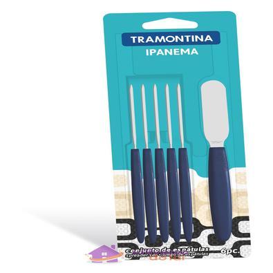 Conjunto de Espátulas para Manteiga Tramontina Ipanema com Lâminas em Aço Inox Tramontina
