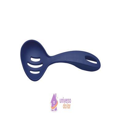 Colher para Servir Perfurada Tramontina Ability em Nylon Azul Tramontina