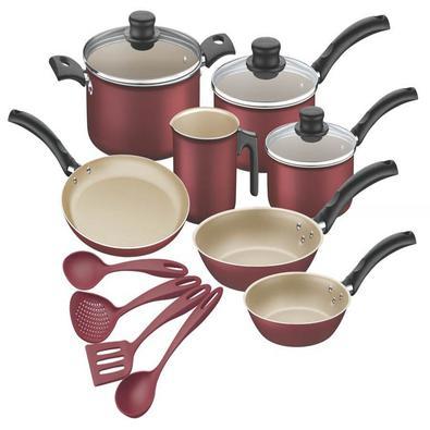 Kit para cozinha de alumínio com revestimento interno de antiaderente 11 peças Tramontina