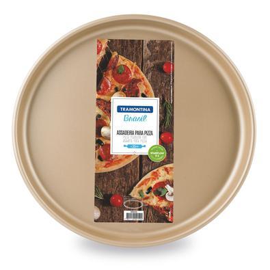 Assadeira para Pizza Tramontina Alumínio Revestimento Antiaderente Starflon Vermelha 35 cm 2,5 L Tramontina