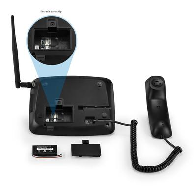 Telefone Celular Rural De Mesa Quadriband 2G Dual Sim Multilaser -
