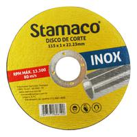 Disco De Corte Inox 115x 1.0x 22,23mm Stamaco 115mm