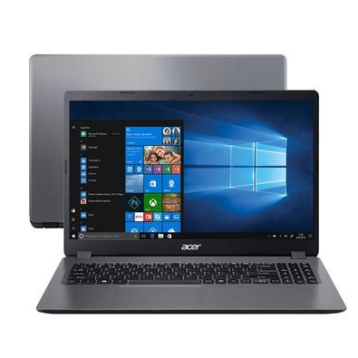 Notebook Acer Aspire Intel Core i3-8130U, 4GB, SSD 256GB, Tela 15.6, Windows 10 Home, Prata - A315-54K-37LZ