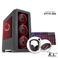 PC Gamer ICC KT2344KW Intel Core I3 3,20 Ghz 4GB 3TB GT710 2GB Kit Multimídia Windows 10