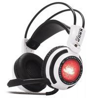 Headset Gamer Knup 7.1 Virtual, com Iluminação USB + P2, Branco/Preto - KP-400