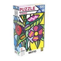 Quebra-Cabeças Grow Flower Romero Brito, Puzzle 500 peças