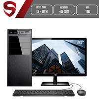 Computador Skill HomeJob Completo Intel Core i3 9100F 9ª Geração, 4GB, DDR4, Monitor 19.5´, HD 1TB, GeForce GT, ASUS