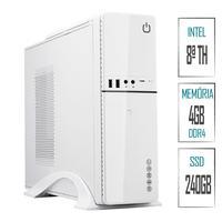 Computador Skill SlimPC Intel G4930 8ª Geração, 4GB, DDR4, SSD 240GB, Intel UHD 610, HDMI, Full HD
