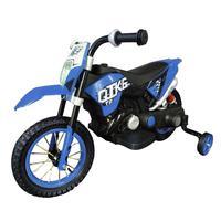 Mini Moto Cross Elétrica Infantil, Suporta até 25Kg, Azul - BW083AZ