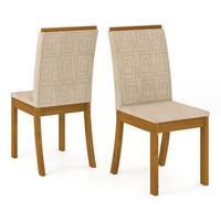 Conjunto 6 Cadeiras P/ Sala de Jantar Kesha