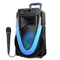 Caixa de Som Amplificada Multilaser Sunny II, 500W, Microfone