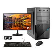 Computador Completo Corporate Asus 4° Gen I3 8gb 120gb Ssd Dvdrw Monitor 15