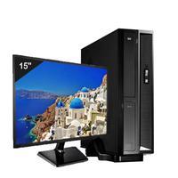 Mini Computador ICC SL2343Sm15 Intel Core I3 4gb HD 2TB Monitor 15