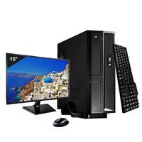 Mini Computador ICC SL2586Cm15 Intel Core I5 8gb HD 120GB SSD DVDRW Kit Multimídia Monitor 15