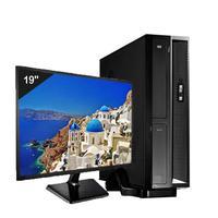 Mini Computador Icc Sl1847dm19 Intel Dual Core 4gb HD 240gb Ssd Dvdrw Monitor 19,5 Windows 10