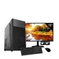 Computador Corporate I3 6gb de Ram Hd 2tb Kit Multimidia Monitor 15 Windows 10