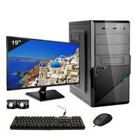 Computador Completo Icc Intel Core I3 8gb Hd 240gb Ssd Dvdrw Monitor 19