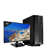Mini Computador ICC SL2346DM19 Intel Core I3 4gb HD 120GB DVDRW Monitor 19,5 Windows 10